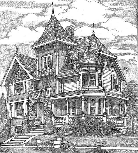 richly detailed exclusive victorian house plan gc