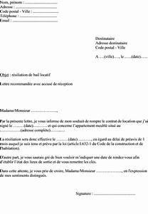 modele de lettre a envoyer au proprietaire pour resilier With resiliation bail meuble proprietaire