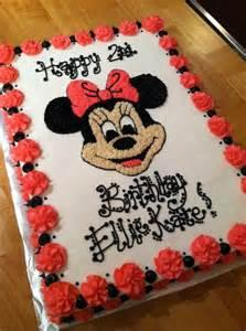 Happy Birthday Minnie Mouse Cake