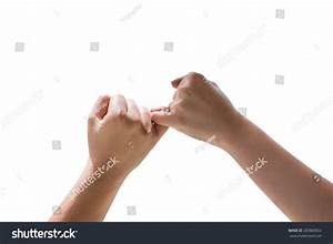 Man Woman Making Pinkie Promise Isolated Stock Photo ...