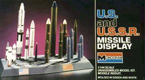 ussr missile display  monogram fantastic plastic models