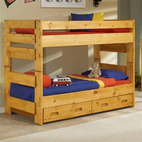 trendwood wrangler bunkhouse twin bunk bed