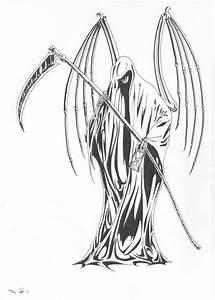 Grim reaper Tatoo by emalterre on DeviantArt