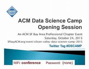SFbayACM ACM Data Science Camp 2015 10 24