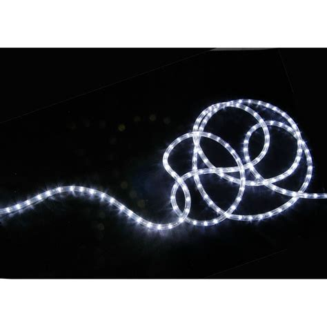 qtx ip44 rated led rope light 50m reel white astounded