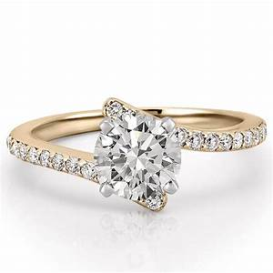 Women39s unique pave diamond engagement ring patronus for Wedding ring unique