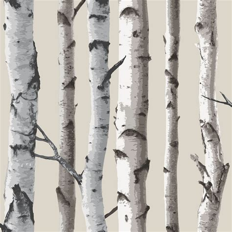 Fine Decor Birch Trees 10m Forest Wallpaper Cream