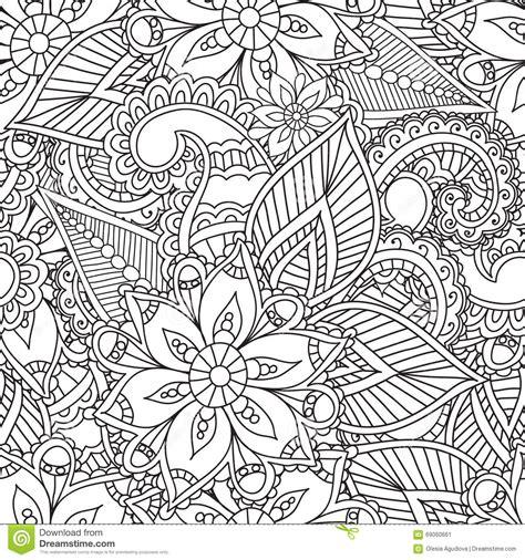farbtonseiten fuer erwachsene elemente seamles henna mehndi