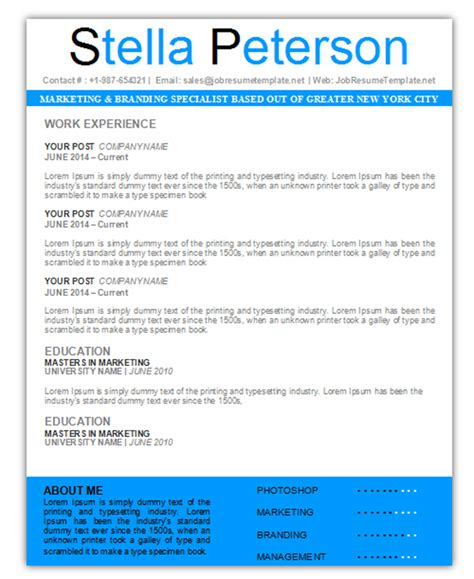 3 free resume cv templates for microsoft word
