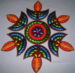 Buy 6 pcs diya shape acrylic #rangoli for diwali ...