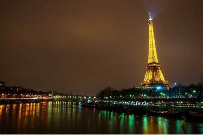 Eiffel Tower Paris Skyline Wallpapers Night Europe