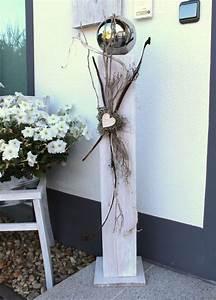 Holz Deko Für Draußen : gs61 gro e dekos ule aus neuem holz f r innen und aussen wei gebeizt dekoriert mit einer ~ Sanjose-hotels-ca.com Haus und Dekorationen