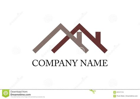House Roof Logo Stock Vector  Image 87317115