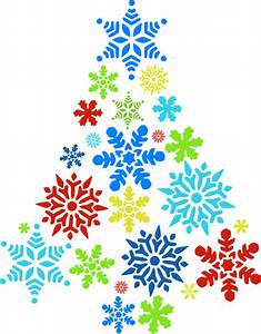 Colorful Snowflake Tree Clip Art at Clker.com - vector ...