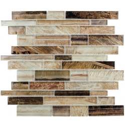 lowes kitchen backsplashes shop elida ceramica laser metallic earth linear mosaic glass wall tile common 12 in x 12 in