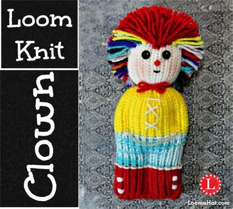 loom knit clown doll