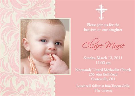 Baptism Invitations In Spanish : Wording For Baptism
