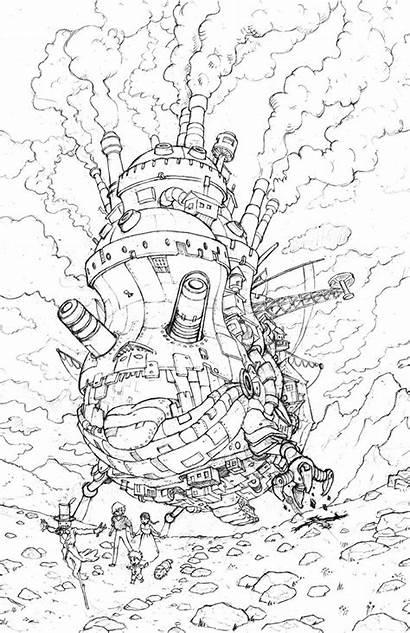 Moving Castle Howl Howls Deviantart Drawings Coloring