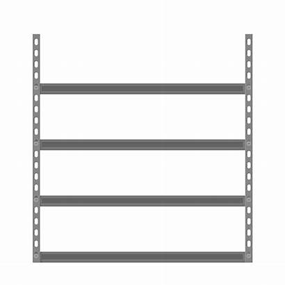 Shelves Shelf Empty Cartoon Storage Vector Clip