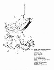 Eureka 5893 Genesis Vacuum Parts