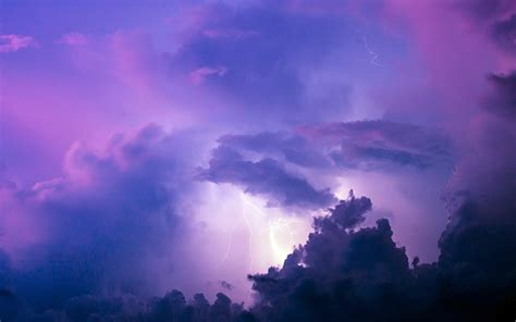 summer florida lightning purple clouds sky preview