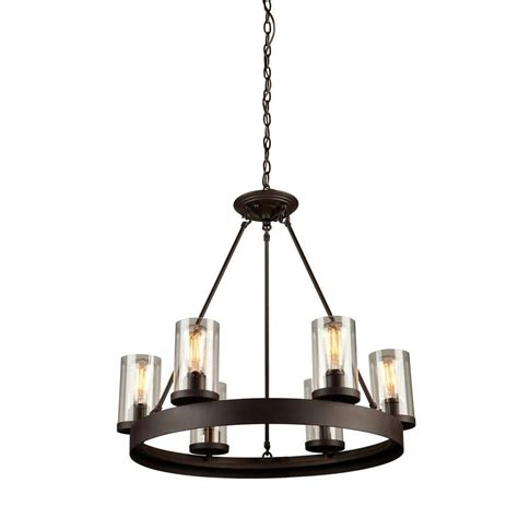 Brown Chandeliers by Filament Design Norman 6 Light Brown Chandelier Cli