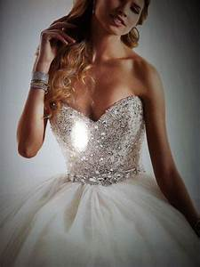 bling wedding dress white princess dresses pinterest With blingy wedding dresses