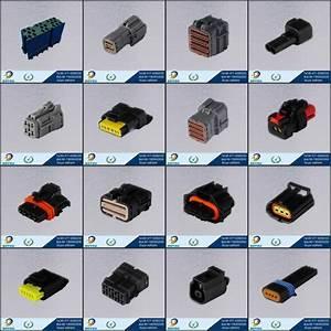 174044-2 Black Plastic Automotive Electrical Connectors 8pin