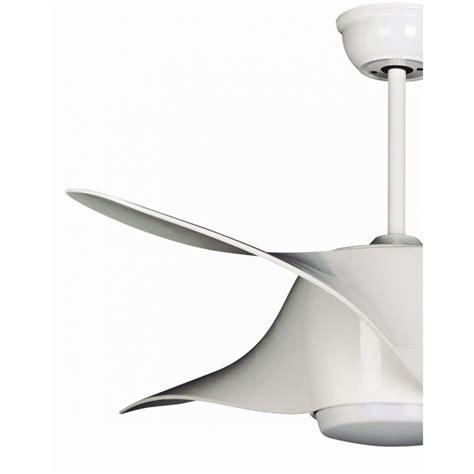 ventilateur de plafond design avec le led couleur blanc et t 233 l 233 commande