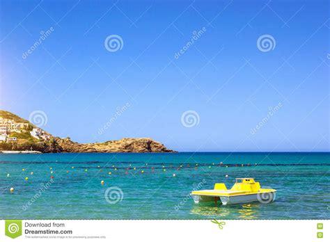 Katamaran Resort Bali by Water Catamaran Parked On Livadi Beach Resort Village