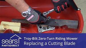 How to Replace a Troy-Bilt Zero-Turn Riding Mower Cutting ...
