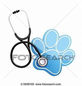 Clipart of veterinarian concept with a Stethoscope ...