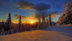 Winter Sunset 4k UHD wallpapers for laptop - HD Wallpapers