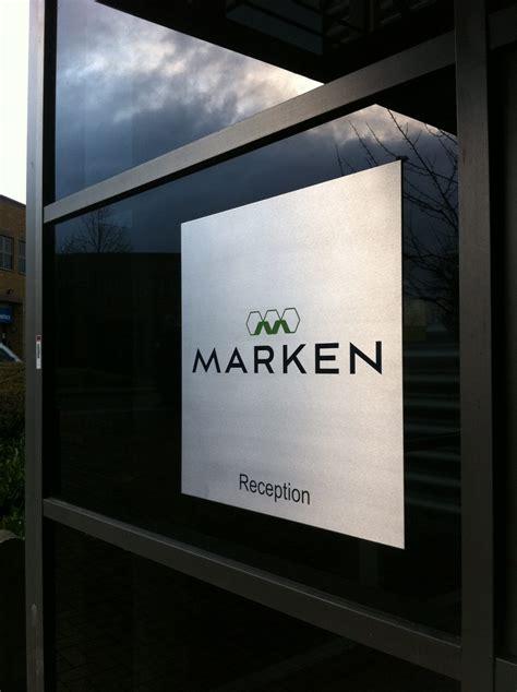Metal Door Sign On Glass External Door (Marken) - Action Signs