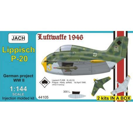 Jach 14405 - Lippisch P.20 (2 in 1) - Aircraft model 1:144 ...