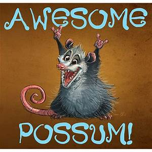 """""""Awesome Possum"""" Poster"""