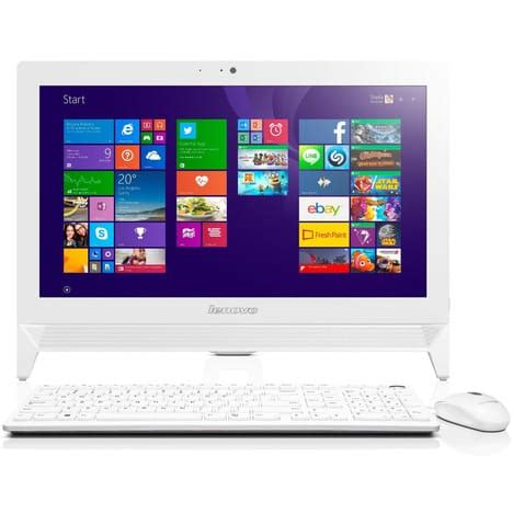 ordinateur de bureau auchan ordinateur de bureau all in one c20 00 blanc lenovo pas
