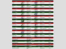 Calendario Oficial Temporada 2011– por CONADEIP Blog de