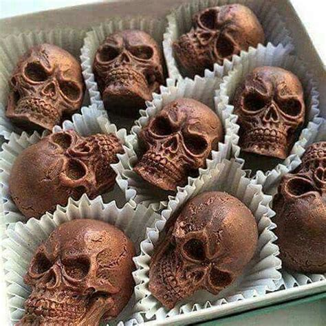 Chocolate Skulls Deliciously Dark Only The