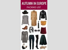 Packing for Autumn in Europe A Complete Packing List