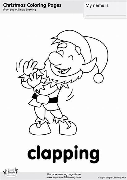 Coloring Clapping Christmas Songs Merry Simple Super