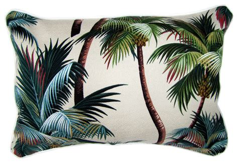 sanctuary palm trees fabric cushion tropical pillows