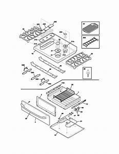 Kenmore Elite Gas Range Top  Drawer Parts