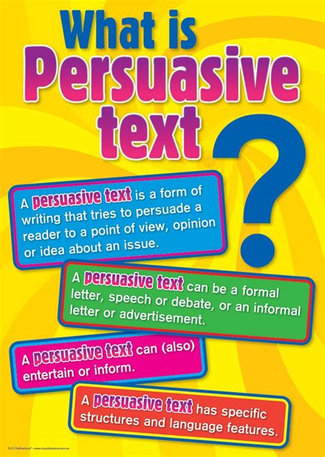 persuasive texts science barwon heads primary school