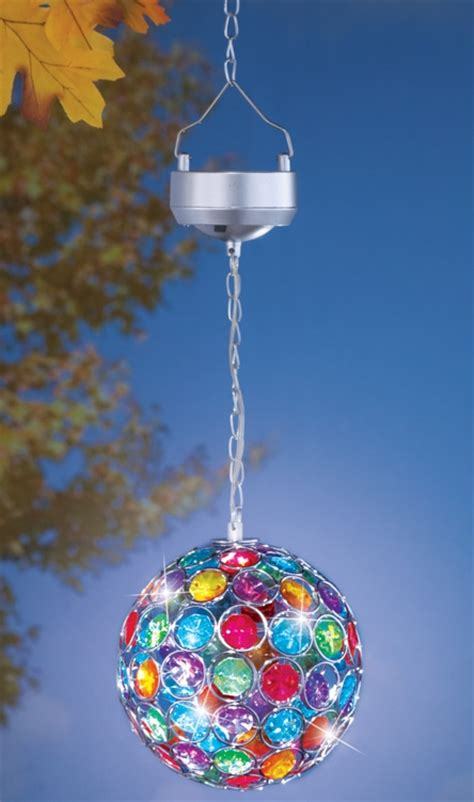 solar led multi color hanging ball fresh garden decor