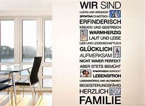 Sprüche Im Bilderrahmen : wandtattoo spruch wir sind familie bilderrahmen e026 spr che zitate wohnzimmer ~ Frokenaadalensverden.com Haus und Dekorationen