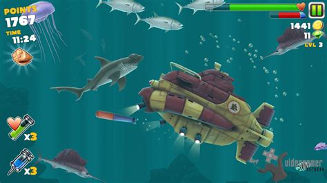 hungry shark evolution screenshots  android iphone