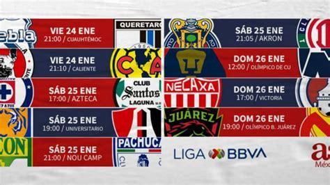 Fechas y horario de la jornada 3 de la Liga MX - AS México