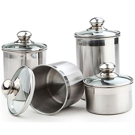 stainless steel kitchen canisters sets stainless steel canister sets starches and greens