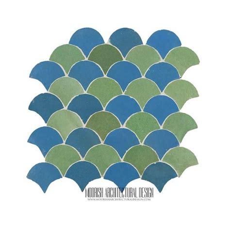 moorish fish scales tile pattern